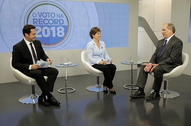 Presidenciáveis na Record TV: assista à entrevista com Ciro Gomes