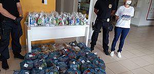 PF distribuiu doações ao hospital
