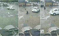 Vídeo: carro roda na pista e arremessa homem que escapa ileso