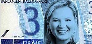 Eduardo Bolsonaro (PSL-SP) posta foto com Joice Hasselmann em nota de R$ 3