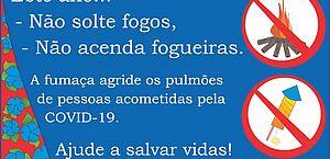 Visa reforça proibição de fogos e fogueiras e dá dicas sobre comidas juninas