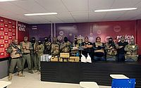 Operação integrada apreende drogas e arma de guerra