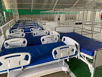 O hospital contará com 20 leitos para atender casos suspeitos de Covid-19