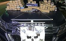 Parte da droga estava num carro mas 67 tabletes da droga foram encontrados na casa do dono do carro.