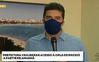 Prefeito de Maceió anuncia liberação da orla a partir desta sexta-feira; veja o que pode e o que não pode
