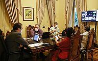 Videoconferência contou com participação do governador e dos secretários de Saúde e de Planejamento