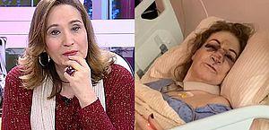 """Mãe de Sônia Abrão cai e apresentadora faz alerta: """"Não insistam em tapetes"""""""