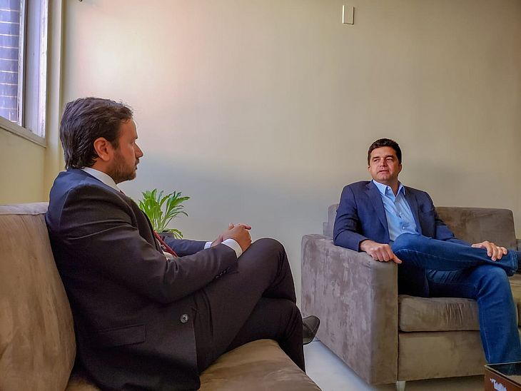 Rui Palmeira e Nivaldo Barbosa debatem a situação do Pinheiro