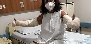 Desodorante explode e mulher fica com 40% do corpo queimado, em Goiás