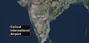 Avião se parte em dois durante pouso no sul da Índia e deixa ao menos 15 mortos