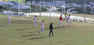 Com apenas sete em campo, time perde por 20 a 0 pela terceira divisão da Itália