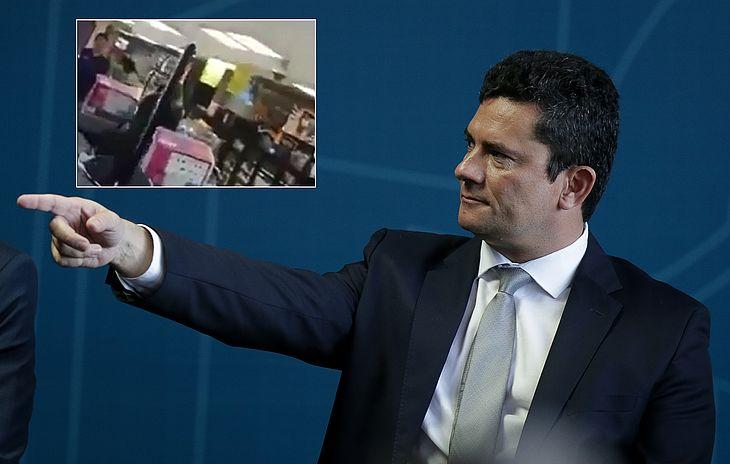 Moro foi questionado por manifestante em supermercado