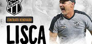 Lisca acerta renovação e segue como técnico do Ceará para 2019