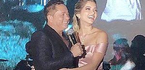 Leonardo e a sobrinha, filha de Leandro