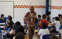 Projeto Maracatu na Comunidade recebe visita de mestre Griot Africano