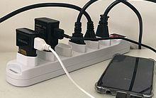 O uso do filtro de linha para ligar mais de um equipamento ao mesmo tempo