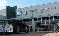 A vítima foi levada para o HEA após o ataque a golpes de faca