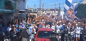 Torcedores do CSA fazem festa, carreata e aglomeram antes da decisão contra o Avaí; vídeos