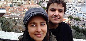O casal de brasileiros, Cristiane Tavares e André Modenezi, vítima de um ataque na França