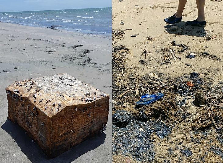 Fardos encontrados desde o ano passado e petróleo achado ontem