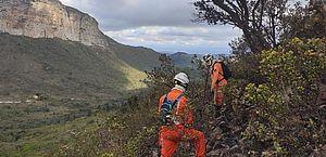 Incêndio é registrado perto do Morro do Pai Inácio, na Chapada Diamantina