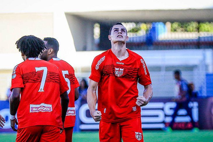 Rangel comemora o gol sobre o Londrina na primeira rodada da Série B
