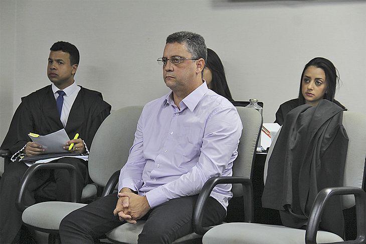 Marcelo Carnaúba durante julgamento dessa quinta-feira (13)