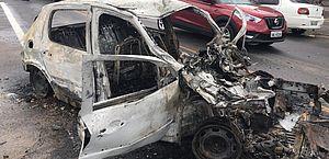 Motorista carbonizado em acidente na Via Expressa terá que ser identificado pela arcada dentária