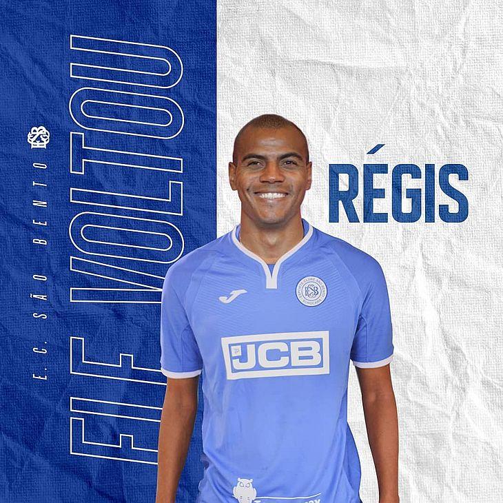 Régis foi anunciado pelo São Bento no dia 27 de fevereiro