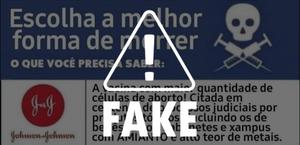 É falsa a afirmação de que vacina teria células de aborto ou produtos tóxicos