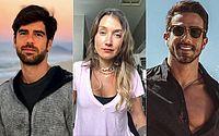 Marcos Pitombo (à esq.), Gabriela Pugliesi e Erasmo Viana: ator da Globo foi apontado como pivô e nega