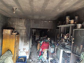 Casa pega fogo no Vergel
