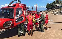 Criança de 6 anos se afoga em piscina de hotel e é socorrida de helicóptero pelos bombeiros