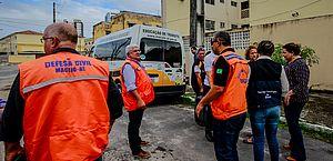 Defesa Civil em vistoria no bairro do Pinheiro