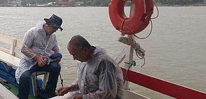 IMA vistoria e coleta amostras na Laguna Manguaba