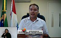 Governador anuncia antecipação do 13º salário para servidores públicos de Alagoas