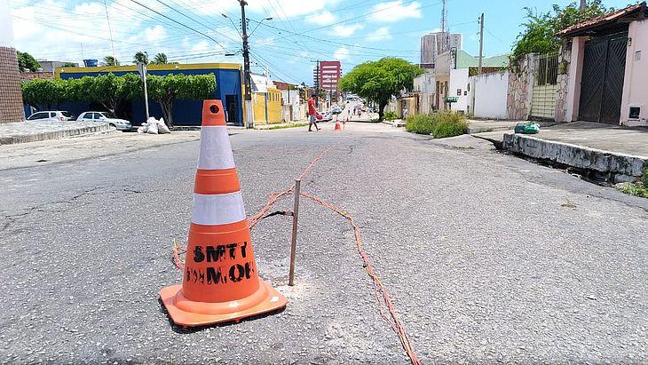 Estudos sendo realizado na Rua Miguel Palmeira