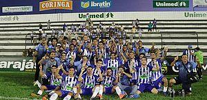 Jogadores do Jaciobá comemoram classificação para semifinal do Alagoano