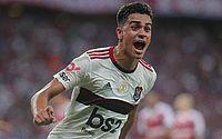 Reinier comemora gol do Flamengo contra o Fortaleza, que decretou a vitória do time do Rio