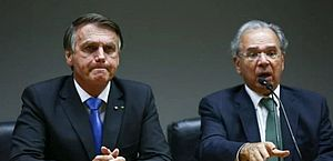 'Não faremos nenhuma aventura', diz Bolsonaro em pronunciamento ao lado de Guedes