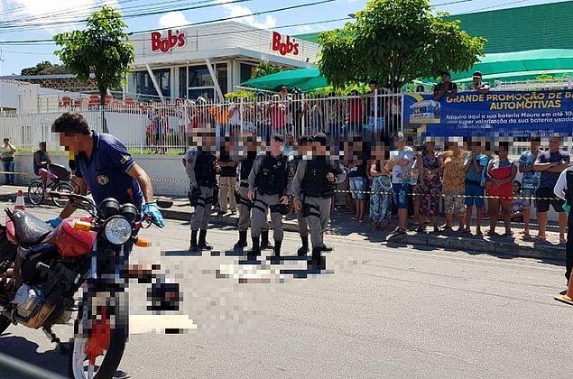 Motociclista é morto a tiros em avenida no bairro de Cruz das Almas