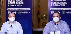 Jailson Correira e Andre Longo em coletiva nessa segunda (22)