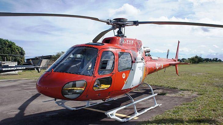Samu Aeromédico resgata vítima de colisão automobilística em Atalaia