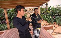 Mansão de Rodrigo Faro tem elevador e piscina com praia e duas ilhas