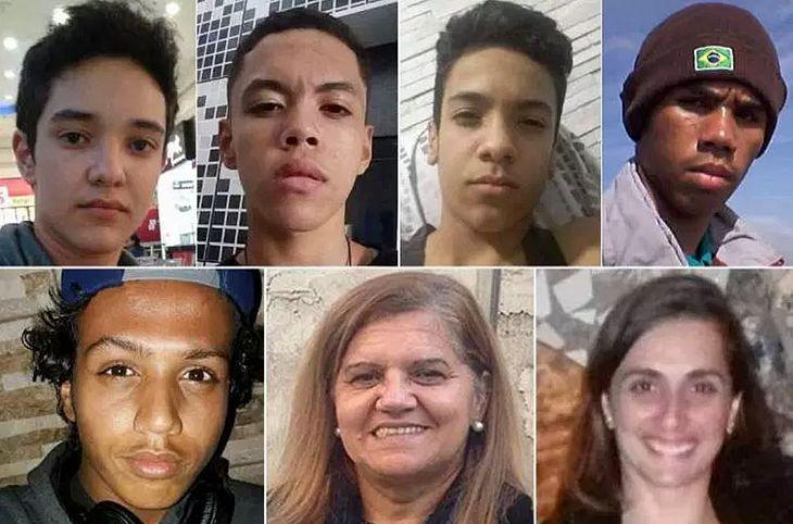 Dupla matou oito pessoas em escola paulista