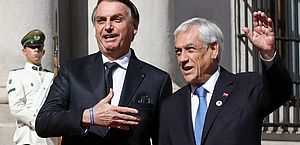 Presidentes do Brasil, Jair Bolsonaro, e do Chile, Sebastián Piñera