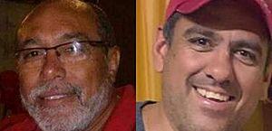 Sargento da PM Juscelino Araújo Chaves (à esquerda) e o empresário Daniel Cortez (à direita) estavam em um veículo quando foram abordado pelos atiradores e mortos em Maranguape