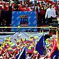 O presidente da Venezuela, Nicolás Maduro, discursa para apoiadores na capital Caracas