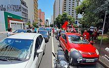 Manifestação contra o governo de Jair Bolsonaro, em Campinas