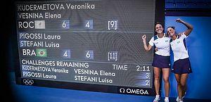 Em virada histórica, Stefani e Pigossi ganham bronze inédito para o Brasil no tênis